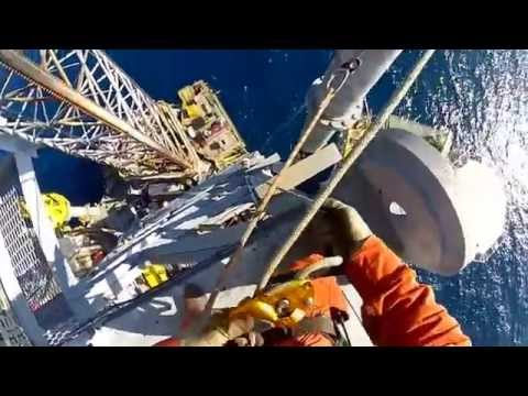 GoPro   Rope Access at Seadrill West Leda Jackup Rig Offshor