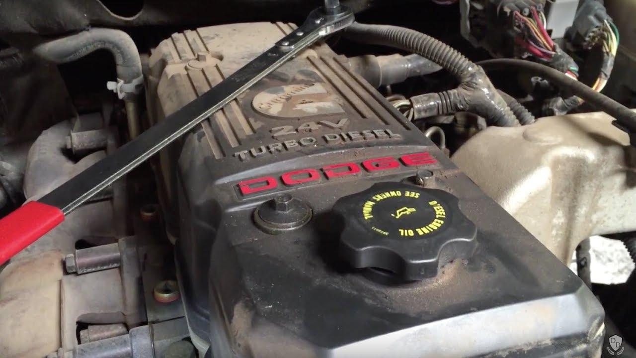 cummins diesel 5 9l water pump removal and install 2002 2006 dodge ram 2500 3500 dodge 59 engine diagram [ 1280 x 720 Pixel ]
