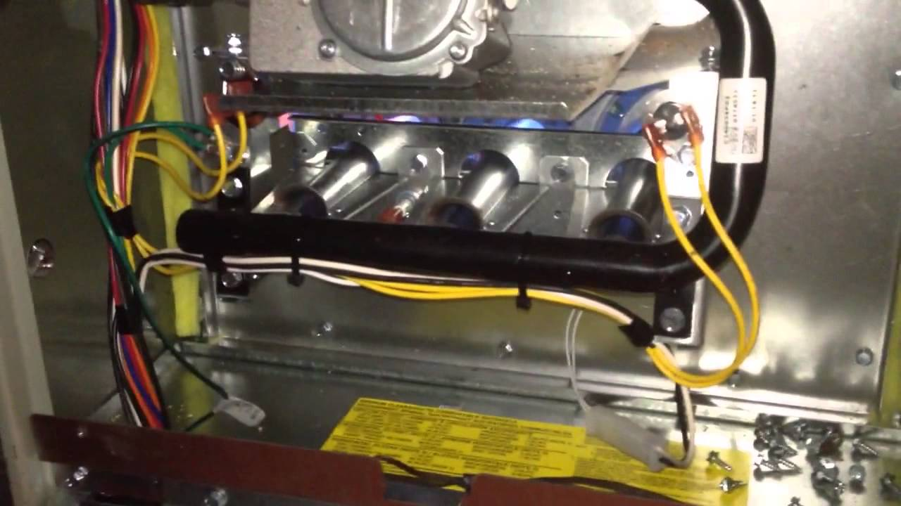 Changing out a Carrier furnace with a cracked heat ...