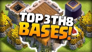 Clash Of Clans - TOP 3 TH8 FARMING BASE 2016! CoC BEST TOWN HALL 8 HYBRID DEFENSE! (TH8 SEP 2016)