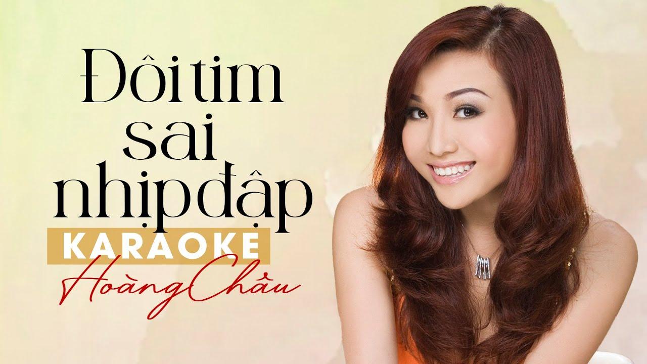 Karaoke ĐÔI TIM SAI NHỊP ĐẬP - HOÀNG CHÂU Full Beat