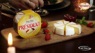 "Рекламный ролик сыра Brie President ""Романтический ужин"" от компании Lactalis. Продакшн ВИЛКА."