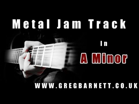 Metal Backing Track | A Minor/Aeolian | Greg Barnett