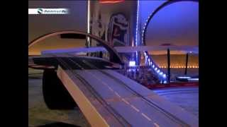 Carrerabahn Transparent 165 m lang Impressionen  1:24 und 1:32 Digitale Carrerabahn