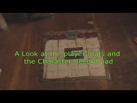Character Record Pad Folklore the Affliction