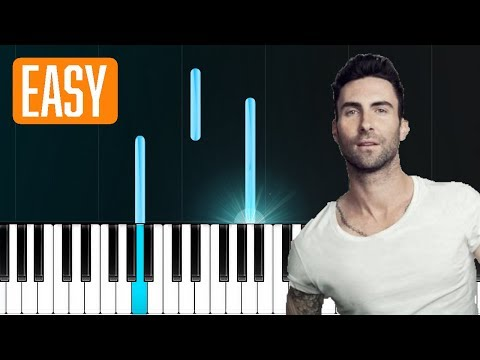 Maroon 5  She Will Be Loved 100% EASY PIANO TUTORIAL