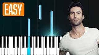 """Maroon 5 - """"She Will Be Loved"""" 100% EASY PIANO TUTORIAL Video"""