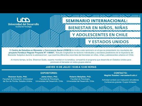 Seminario internacional: Bienestar en niños, niñas y adolescentes en Chile y Estados Unidos