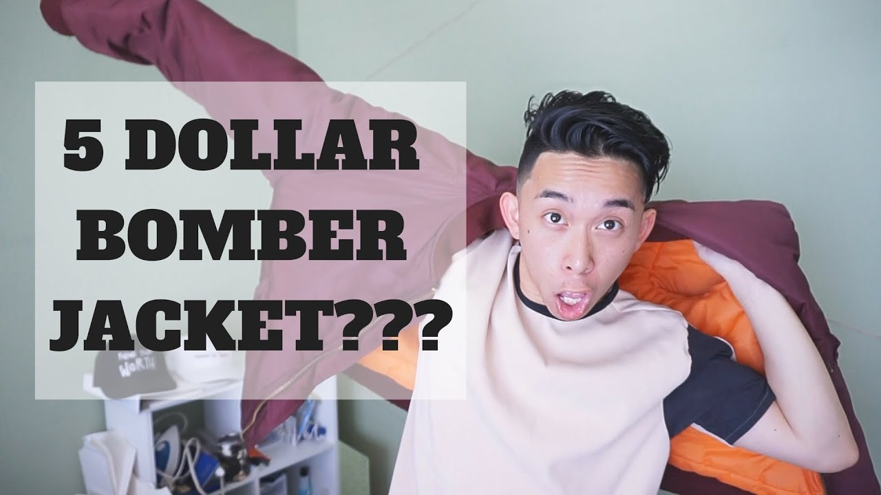 5 DOLLAR BOMBER JACKET? | Thrift Store Haul - YouTube