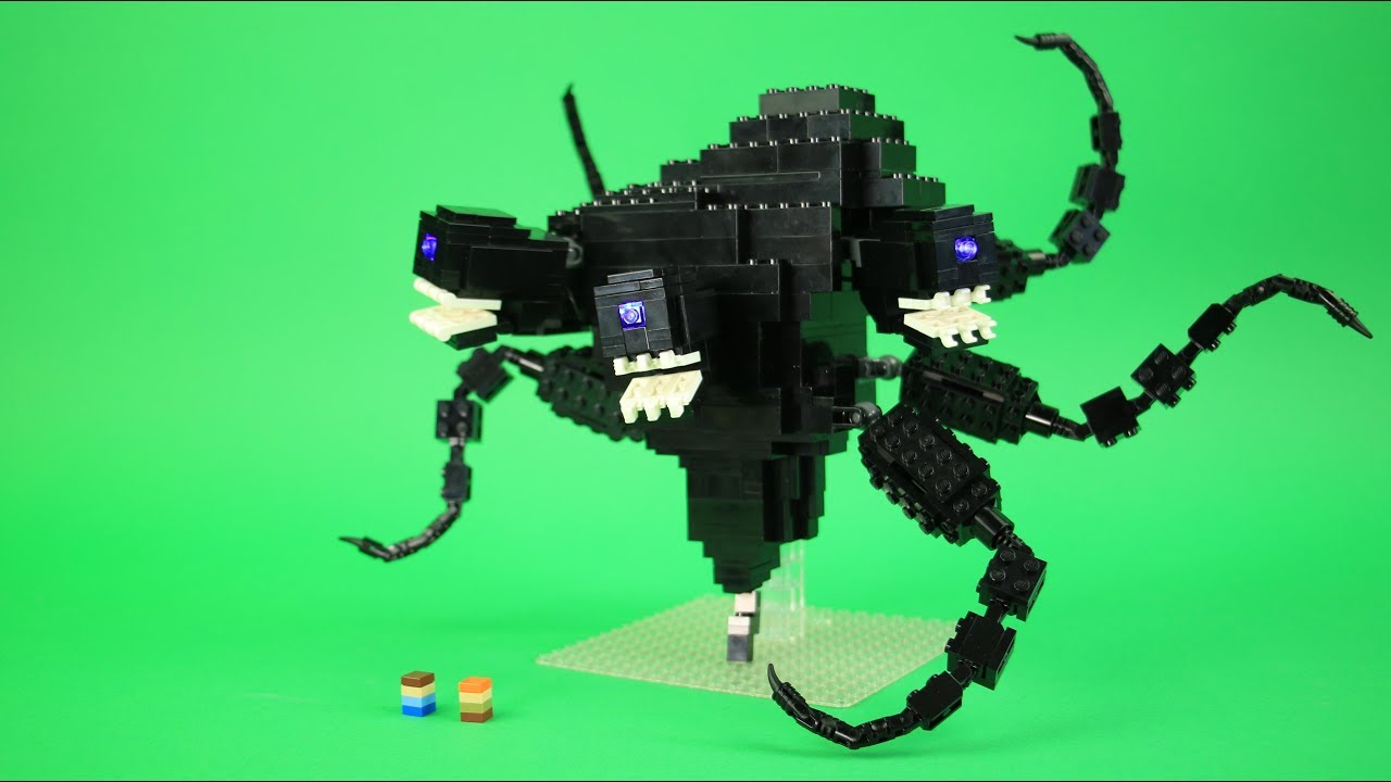 How To Build Lego Wither Storm Custom Lego Minecraft Youtube