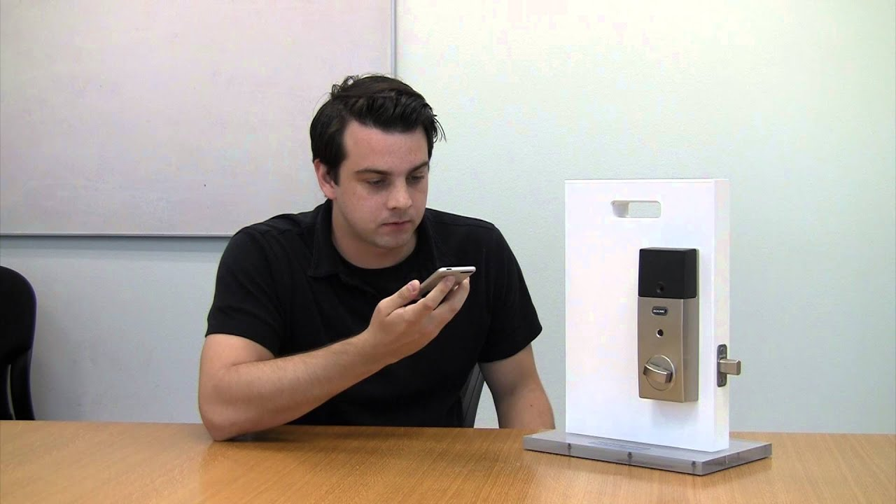 Schlage Sense Homekit Door Lock Nxp Youtube