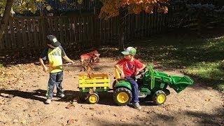 Unboxing - John Deere Tror and Wagon - Big Farm toy