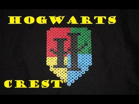 Harry Potter Hogwarts Crest [Perler Bead] YouTube Stunning Harry Potter Perler Bead Patterns