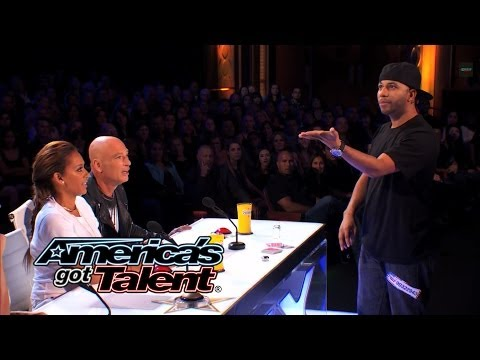 Smoothini Bar Magician Flies Through Amazing Tricks - Americas Got Talent 2014