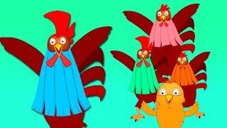 петухи палец семья | Песни для детей | Дети стихи | Russian Song | Kids Poem | Rooster Finger Family