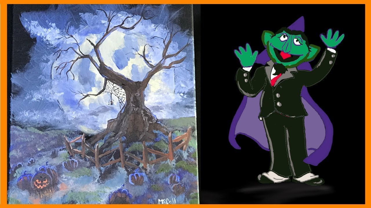best halloween voice over spooky halloween tree halloween themed art studio 214