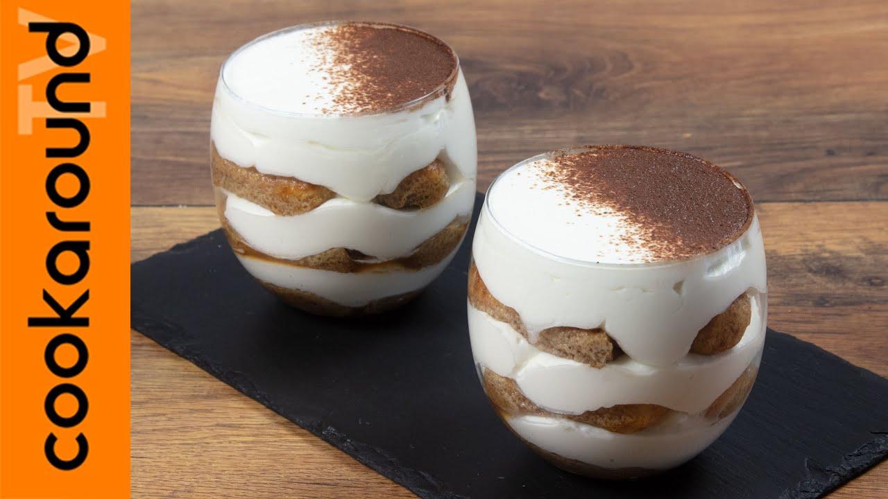 Ricetta Tiramisu Con Yogurt E Panna.Tiramisu Allo Yogurt Youtube