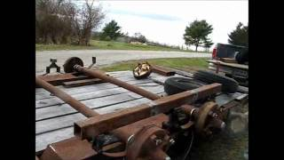 Building tandem axles for the rat rod trailer