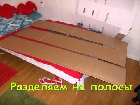 видео: Полочки в шкафу с картона,shelves with cardboard in a closet, организация пространства шкафа.