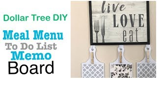 FARMHOUSE DIY DOLLAR TREE MEAL MENU PLANNER BOARD FOR KITCHEN COMMAND CENTER  Easy Less than $6