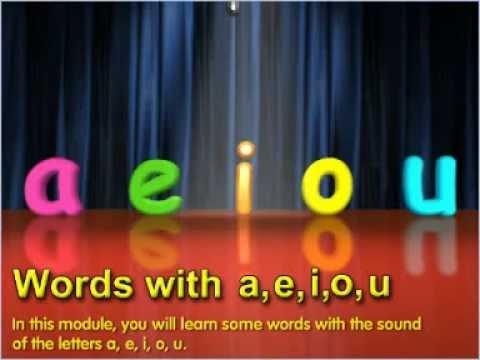 Words with a e i o u - English (Grade 01)