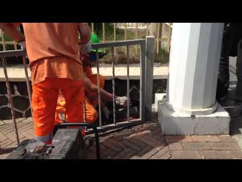 Roma, apertura varchi lungomare a Ostia (video agenzia DIRE)
