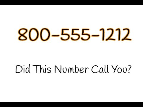 800-555-1212 Call You? | See What Others Are Saying