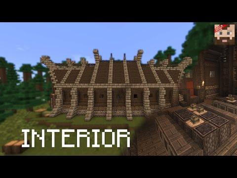 Minecraft Tutorial   Viking Long House -- interior