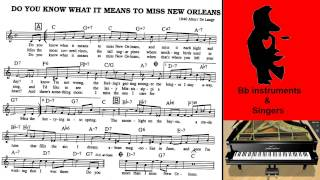 Do You Know What It Means To Miss New Orleans Live Piano Accompaniment
