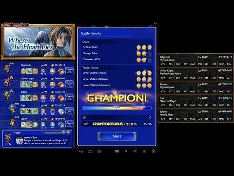 Final Fantasy Record Keeper - Where the Heart Lies Bonus Battles - Winning Runs (Ultimate++ Zidane)