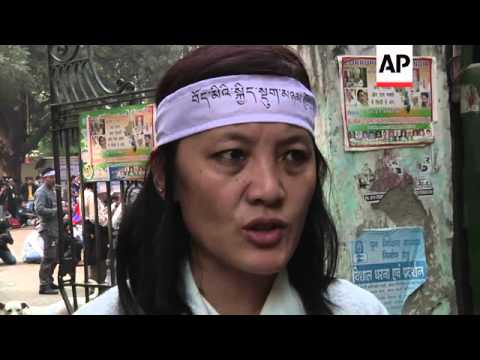 Tibetan exiles protest Chinese rule