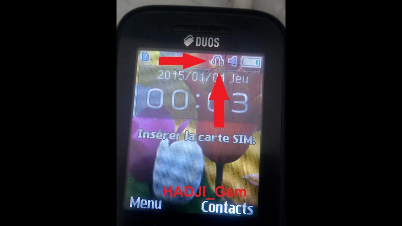Samsung b313e headphone mode solution | إصلاح عطل ظهور سماعة الاذن على شاشة هاتف سامسونج b310e