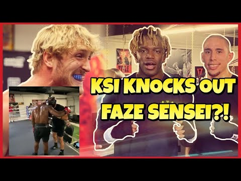 KSI KNOCKS OUT FAZE SENSEI IN SPARRING?! #KSI #KSIVSLOGAN #FaZeSensei #LoganPaul