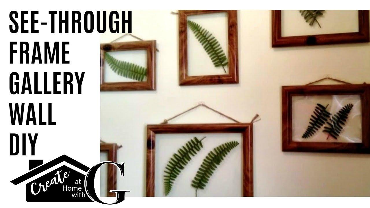 1) Poundland Craft: See Through Frame DIY - YouTube