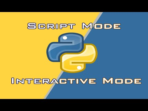 Python Interactive Mode and Script Mode | Tutorial for beginners | Running code in python thumbnail