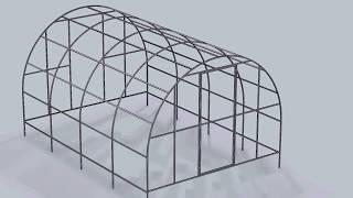 видео Чертежи теплиц из профильной трубы