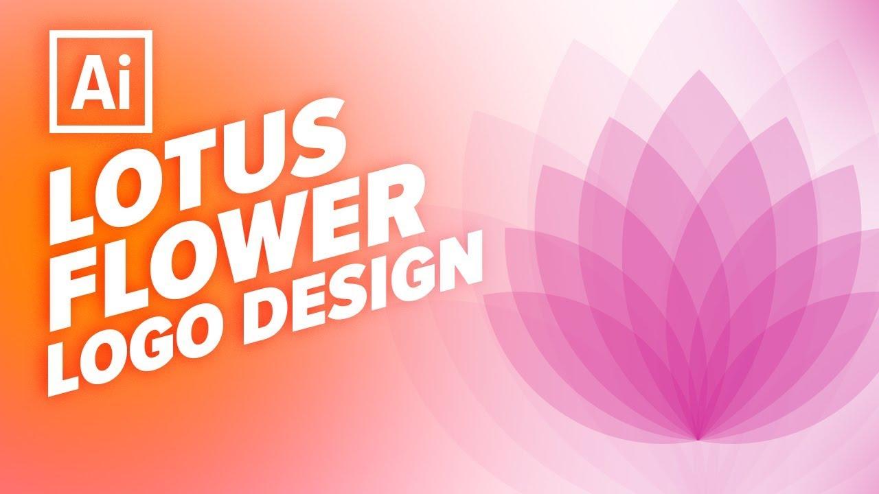 How To Create Lotus Flower Logo In Illustrator Cc 2018 Urdu