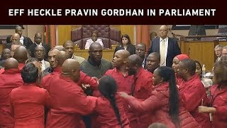 EFF disrupts Gordhan in Parliament