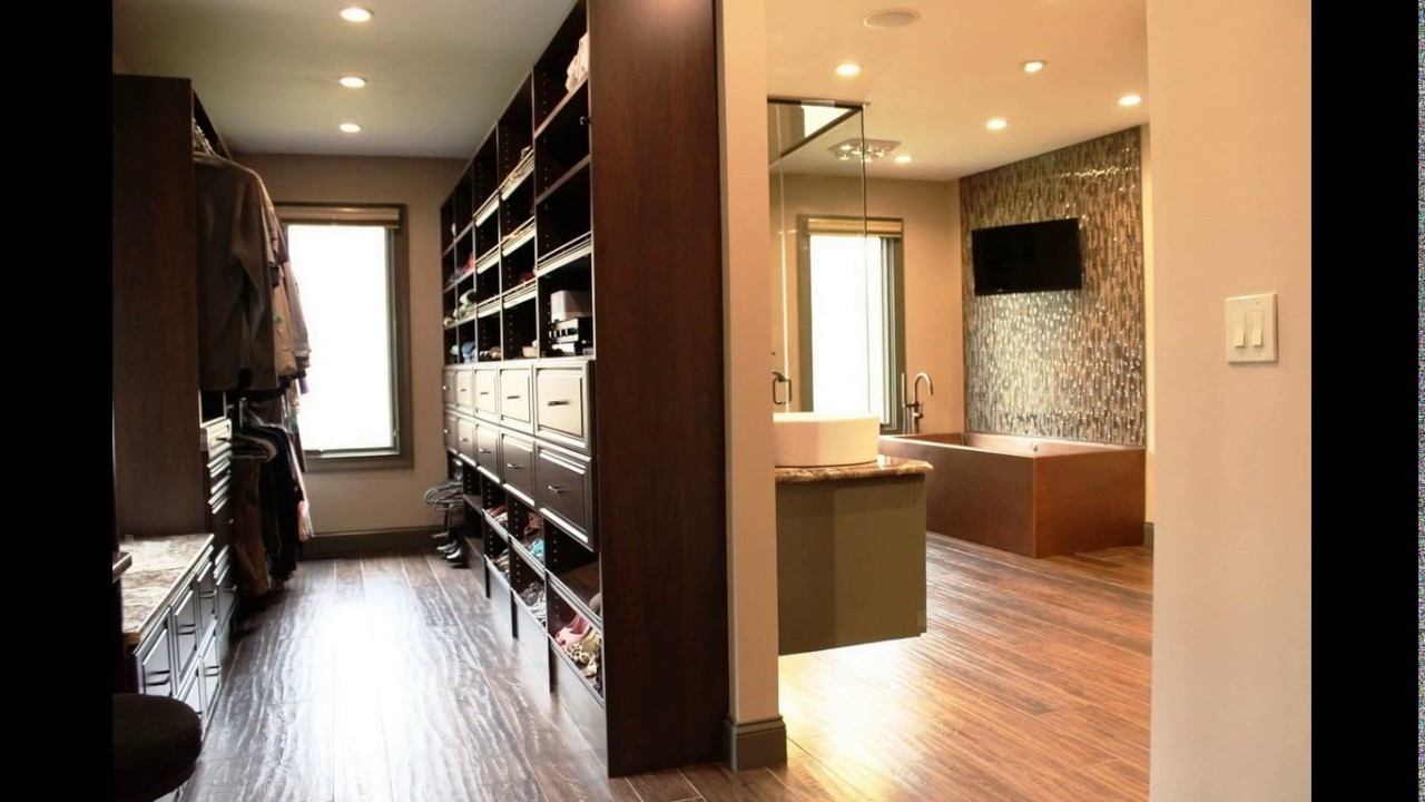 Bathroom With Closet Design Ideas ~ Walk in closet bathroom designs youtube