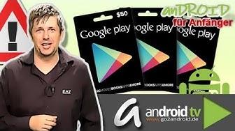[GER] Android für Anfänger - Wie funktioniert die Google Play Card? [Folge 5]