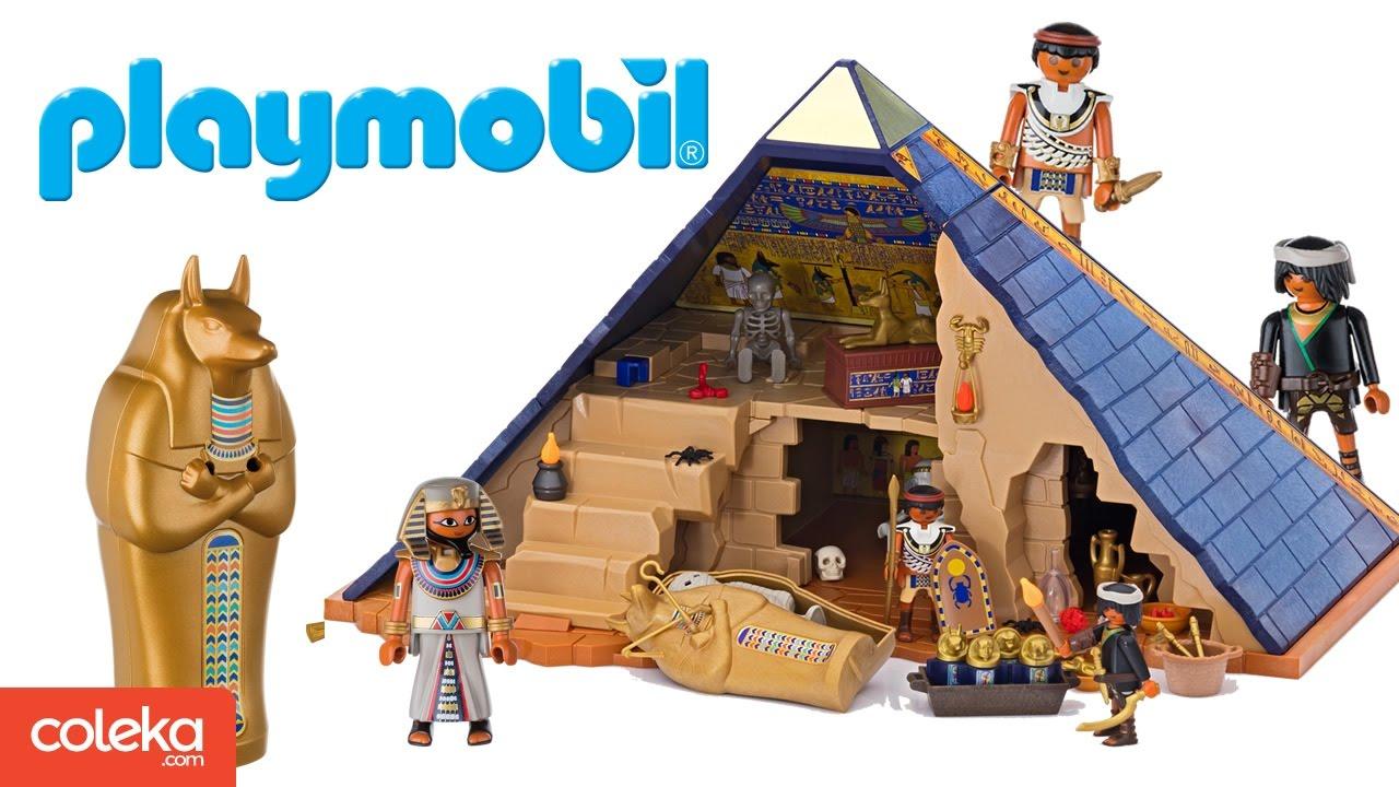 la pyramide du pharaon playmobil set 5386 youtube. Black Bedroom Furniture Sets. Home Design Ideas