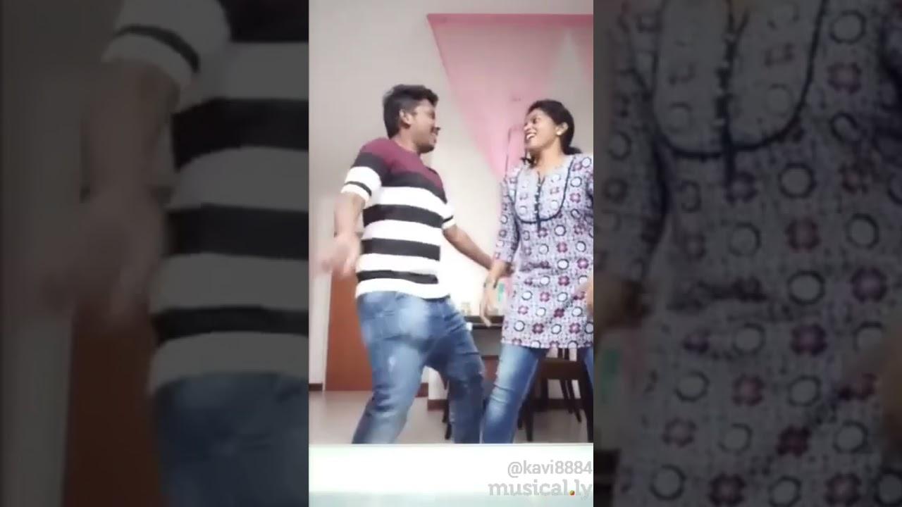 Funny Dance 🤣😂 Happy Vaazhum Tamil Couple #TikTok #ThrowbackMemories #PermissontoDance