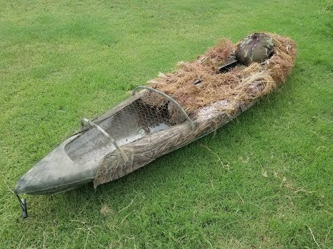 Duck Hunting Kayak Layout Blind Overview