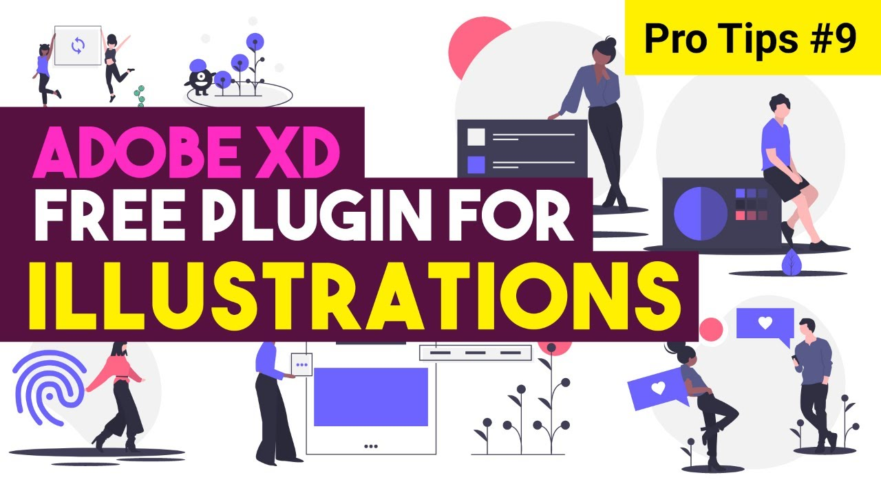 Plugin to create free illustrations with single click adobe xd undraw |  tip-9