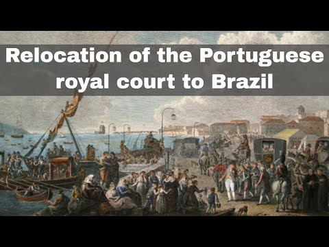 22nd January 1808: Portuguese royal court relocates to Brazil