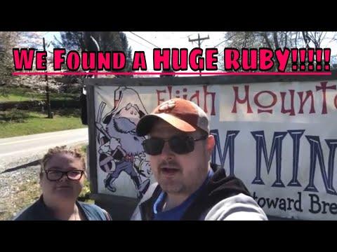 We Find A HUGE RUBY!!! The Elijah Mountain Gem Mine !!