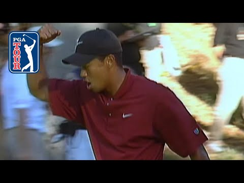 Tiger Woods' unlikely par save at Sherwood in 2002