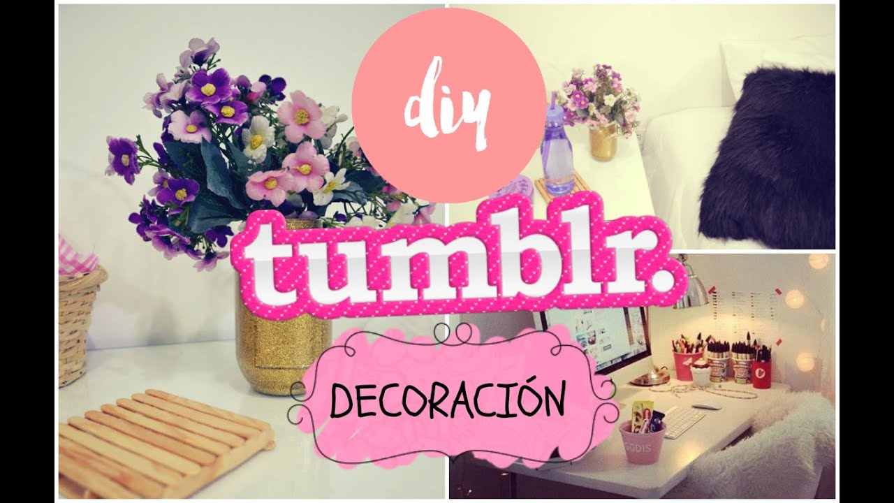 Diy decora tu cuarto como tumblr mar afernandamv youtube for Para adornar fotos
