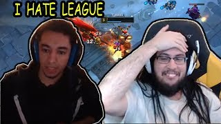 Nightblue3 Back On Streaming League *I HATE LEAGUE* | Imaqtpie Flames Tyler1 And Voyboy |LoL Moments
