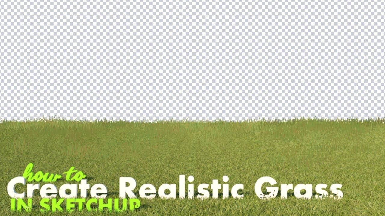 sketchup grass tutorial